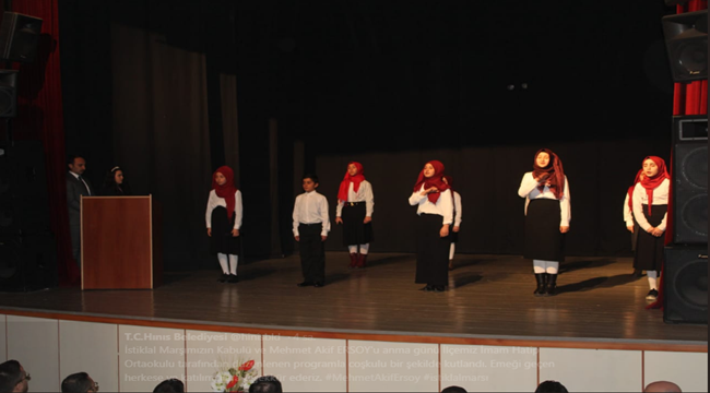 Mehmet Akif ERSOY Hınıs'ta Anıldı