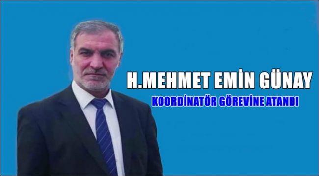 H.Mehmet Emin GÜNAY Genel Koordinatör Oldu