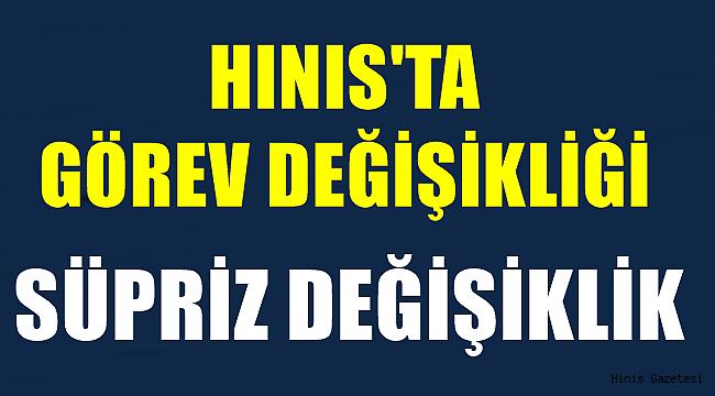 Hınıs'ta Görev Değişimi!!