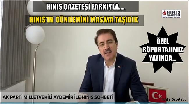 Milletvekilimiz Sayın İbrahim AYDEMİR ile Hınıs'ın Sorunlarını Konuştuk.