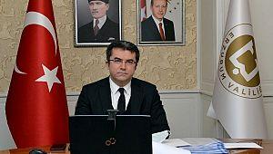 Vali Memiş, Bakan Pakdemirli ile video konferans aracılığıyla toplantı yaptı
