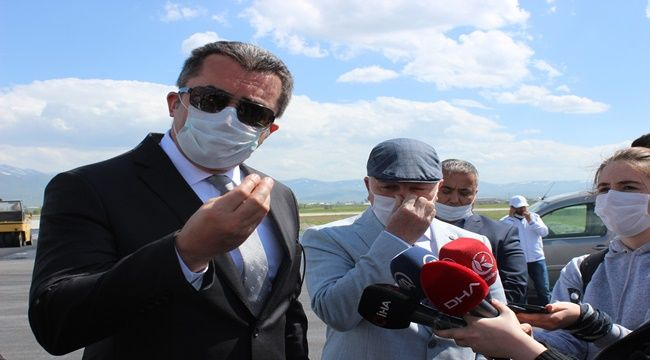 Erzurum Havalimanı pisti bitmeyince Vali çıldırdı.