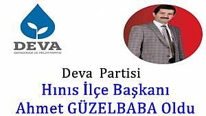 Deva Partisi Hınıs İlçe Başkanı Ahmet GÜZELBABA Oldu