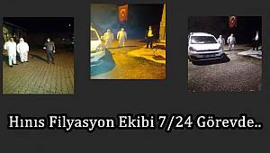 Hınıs Filyasyon Ekibi 7/24 Görevde..