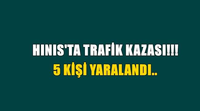 Hınıs'ta Trafik Kazası! 5 Kişi Yaralandı..